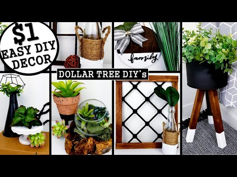 6 NEW DIY's HOME DECOR | DOLLAR TREE DIY's 2020 | Anthropologie & West Elm Inspired