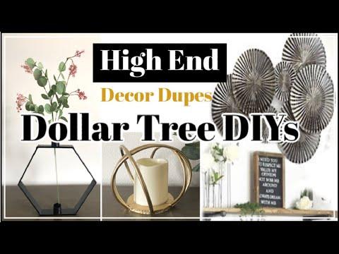 $1 High End DIY Home Decor | Dollar Tree DIY Z Gallerie Inspired Decor