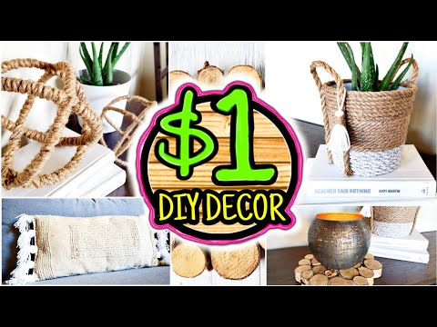 Dollar Tree DIY Room Decor Anthropologie & West Elm Inspired