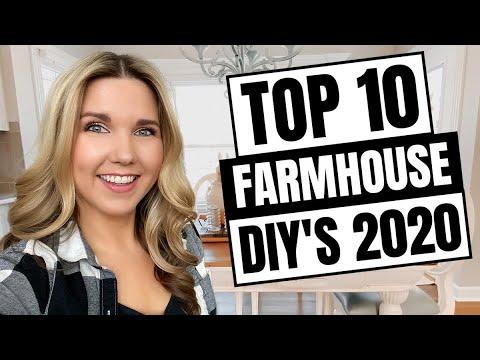 Top 10 Farmhouse DIY's 2020 – Home Decor on a Budget