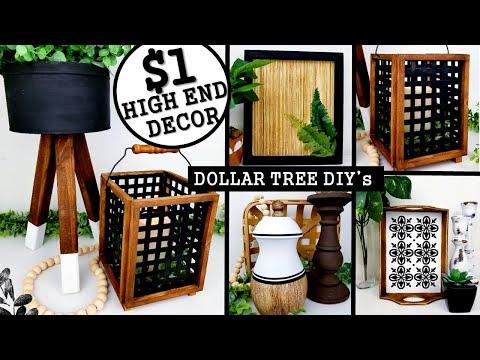 $1 DIY HOME DECOR IDEAS | DOLLAR TREE DIY's 2020 | Anthropologie Inspired