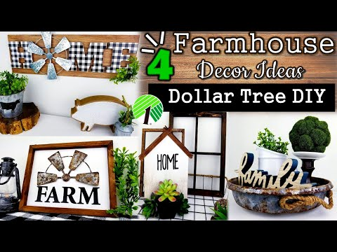 EASY & Quick Farmhouse DIY's | Home Decor Ideas | Dollar Tree DIY's