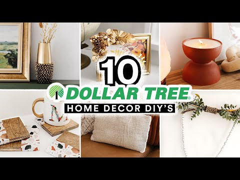 10 DIY DOLLAR TREE HOME DECOR PROJECTS – Affordable + Cute $1 Decor Transformations!