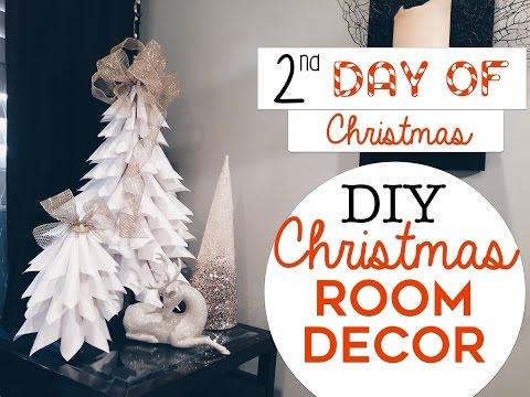3 EASY Christmas Room Decor DIY's | 2nd Day of Christmas! | DIY Christmas Trees for Small Spaces