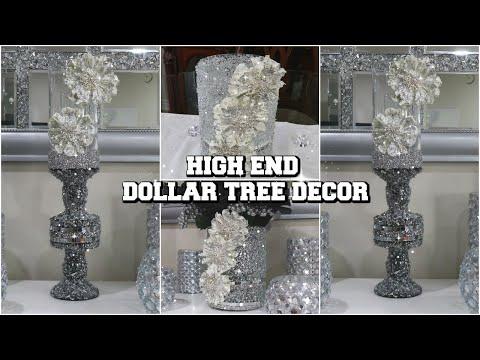 HIGH END DOLLAR TREE DIY HOME DECOR | 2 EASY & GLAM DECOR USING DOLLAR TREE ITEMS