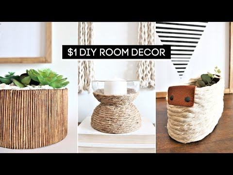 DIY Room Decor! SIMPLE + AMAZING Dollar Store DIY Boho Decor *ANTHROPOLOGIE INSPIRED*