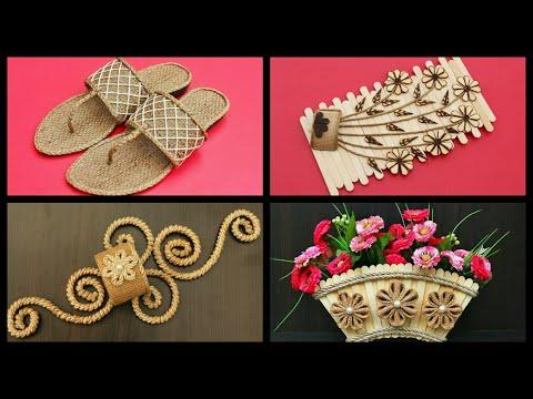 Easy Home Decoration Ideas Handmade | Handmade Jute Showpiece | DIY Room Decor | DIY Projects