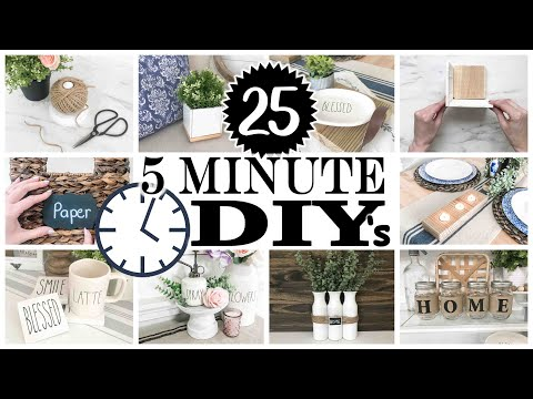 25 *5-Minute* DIY Home Decor ⏱ FAST EASY AND CHEAP!