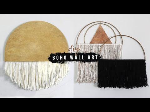 3 Easy DIY Boho Wall Art Ideas | Home Decor For Under $20!