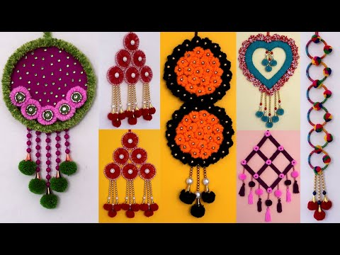 8 Beautiful Handmade Woolen Wall Hanging Craft Idea! DIY Room Decor!! Home Decor Ideas