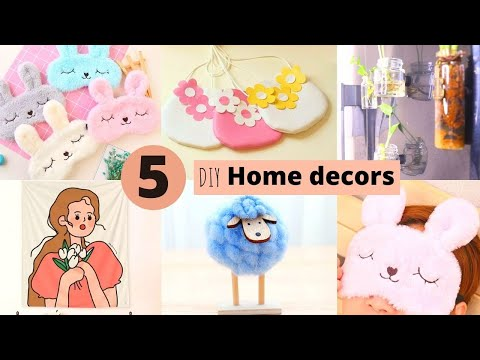 5 Handmade Home Decor Craft Items / DIY Home Decor Ideas