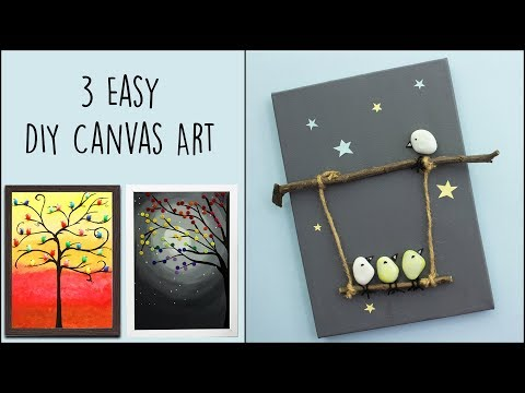 3 Easy DIY Canvas Art |  Home Decor