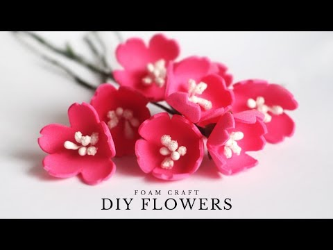 Foam Sheet Flowers | Easy Foam Flowers for DIY Home Decor | Flower Making at Home