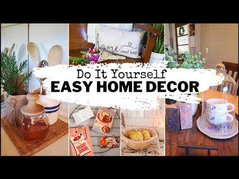 🌞5 super EASY and AFFORDABLE DIY Home DECOR projects & ideas (Do It Yourself on a small BUDGET!