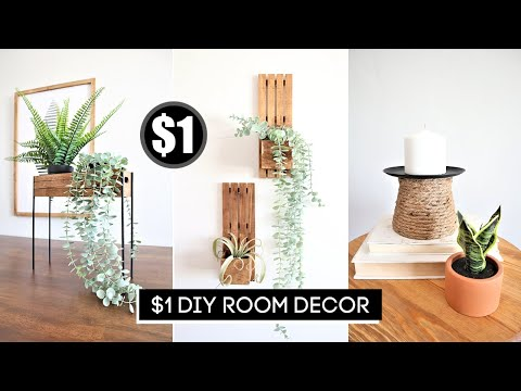 $1 QUICK and EASY Dollar Tree DIY Room Decor (No Skills Needed!)