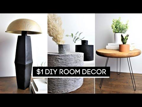 DIY Room Decor! $1 High-End Dollar Tree DIYs (EASY + AFFORDABLE)