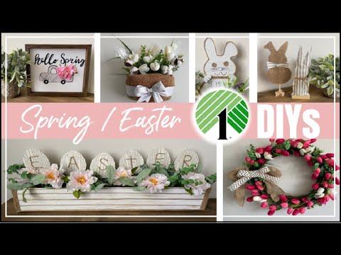 Dollar Tree DIY Spring Easter Decor 2020 | Easy DIY Decor Ideas | Momma From Scratch