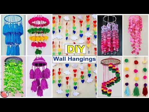 10 DIY ROOM DECOR !!  Easy Wall Hanging Craft Ideas at Home