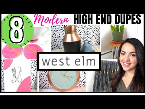 DIY Room Decor Inspired by WEST ELM| High End DECOR DUPES Made Using DOLLAR TREE & other CHEAP ITEMS