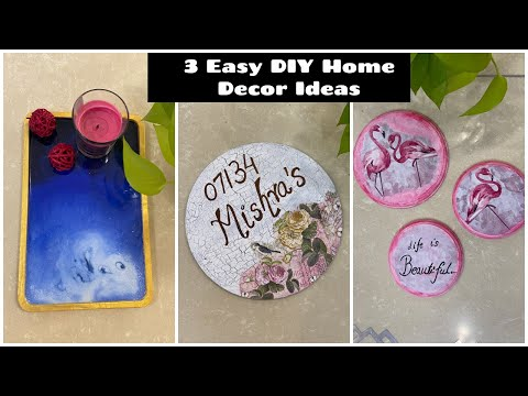 3 Easiest DIY Home Decor Ideas | 5 Minutes Easy Craft Ideas | Organizopedia