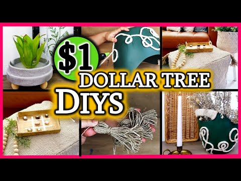 IMPRESS EVERYONE with $1 QUICK and EASY Dollar Tree DIY Room Decor | NO Skills NEEDED!