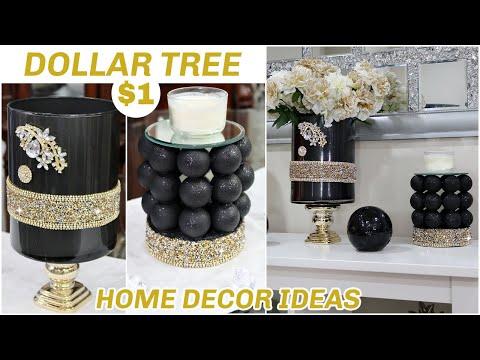 DOLLAR TREE DIY HOME DECOR PROJECTS 2021   AFFORDABLE + GLAM & EASY $1 DIY ROOM DECOR IDEAS