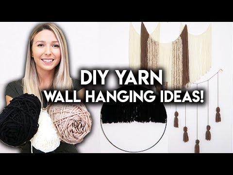 DIY ROOM DECOR IDEAS | YARN WALL HANGING