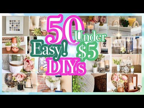 50 DOLLAR TREE DIYS UNDER $5!!  SUPER EASY DIY ROOM DECOR HOME DECOR ON A BUDGET!!