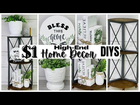 HIGH-END HOME DECOR DIYS | EASY AND BUDGET FRIENDLY | CORNER SHELF DIY