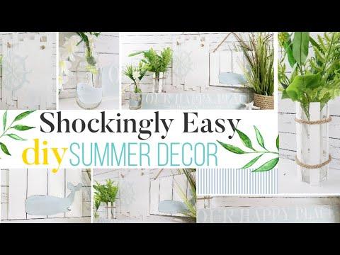 🌿 Shockingly Easy DIY Summer Decor, ANYONE can make!  | DIY Room Decor