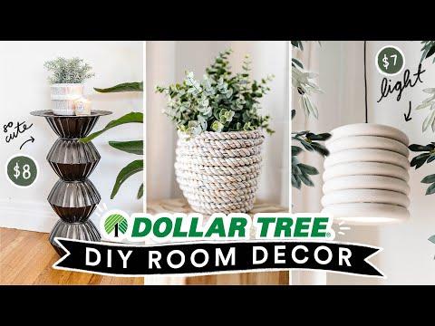 DIY DOLLAR STORE ROOM DECOR + FURNITURE ✨ Cute + Easy Dollar Tree Home Hacks!