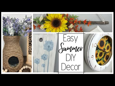 Easy Summer DIY Decor | Budget Friendly DIY Home Decor