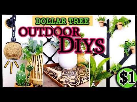 MODERN Outdoor $1 DIYS | EASY DIY'S to Decorate your Home | Dollar Tree