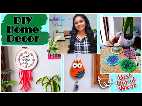 Amazing Home Decor From Waste Materials | Easy wall decor ideas | DIY
