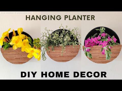 QUICK & EASY DIY HOME DECOR   UNIQUE WALL PLANTER IDEAS / WALL DECOR     #Diyhomedecor #Easydiy