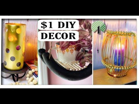 $1 DIY HOME DECOR IDEAS | QUICK and EASY Dollar Tree DIY Room Decor Ideas