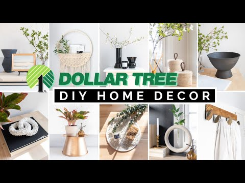 TOP 20 DIY DOLLAR TREE HOME DECOR PROJECTS | HIGH END, EASY & NOT CHEESY