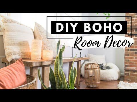DIY BOHO ROOM DECOR ON A BUDGET | BOHEMIAN LIVING ROOM HOME DECOR