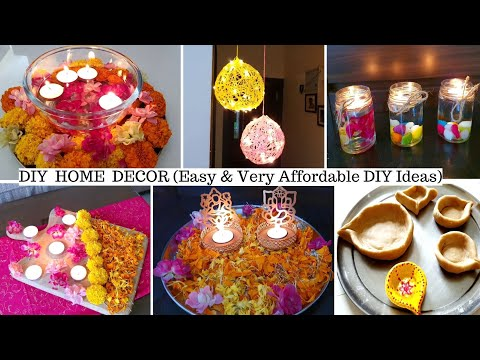 DIY Home Decoration Ideas : Simple,Easy & Very Affordable Ideas For Diwali Home Decor (Hindi Vlog)