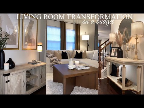 LIVING ROOM MAKEOVER | DECORATE WITH ME + EASY DIY HOME DECOR | BROOKE KENNEDY