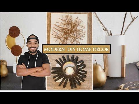 MoDERN DIY HOME DECOR HIGH END 2021, dollar tree HACKS (easy + Cheap) decoracion moderna