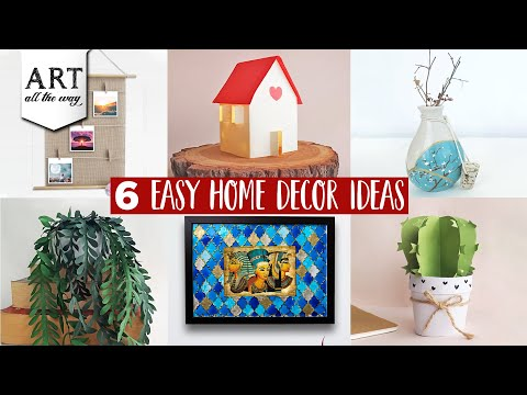 6 Easy Home decor ideas   DIY Room decors   Compilation